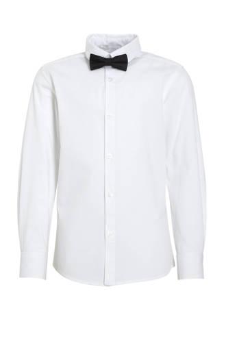 overhemd + vlinderstrik wit