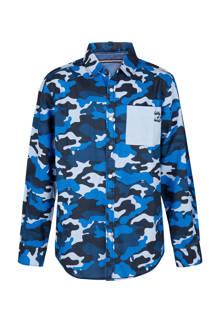 regular fit camouflage overhemd