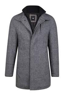 WE Fashion winterjas met wol grijs (heren)