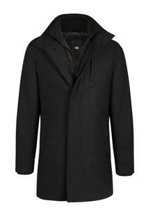 WE Fashion coat met wol zwart (heren)