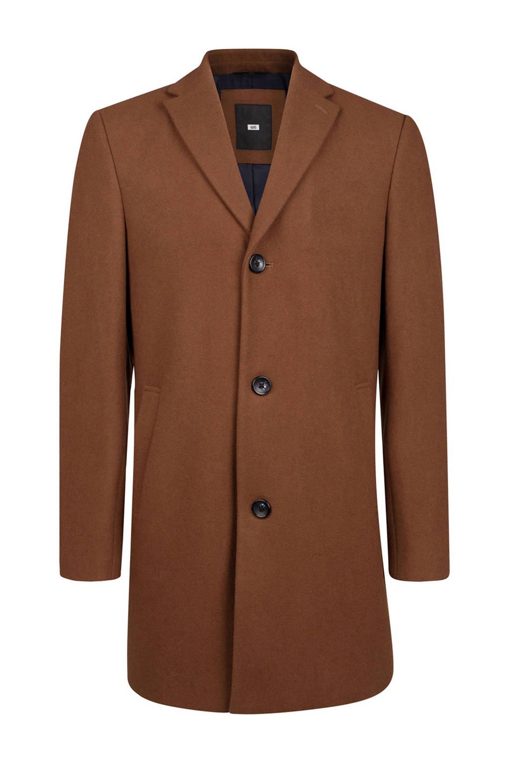WE Fashion wollen coat bruin, Gingerbread