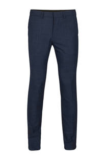 WE Fashion wollen slim fit pantalon marine (heren)