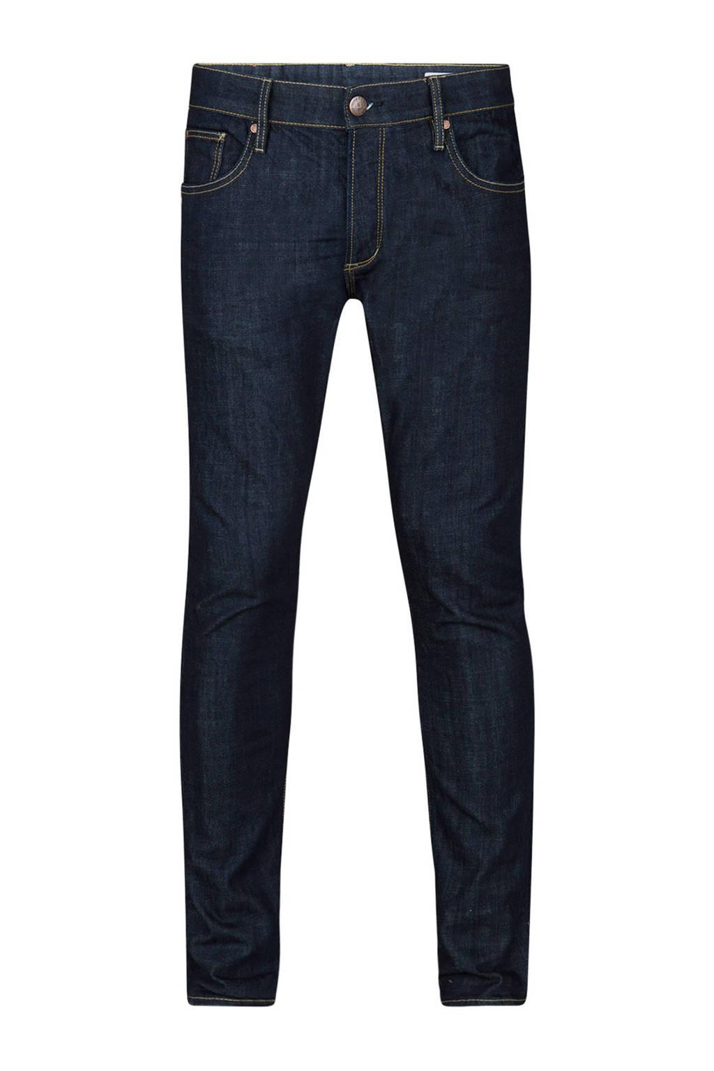 WE Fashion Blue Ridge slim fit jeans donkerblauw, Dark denim