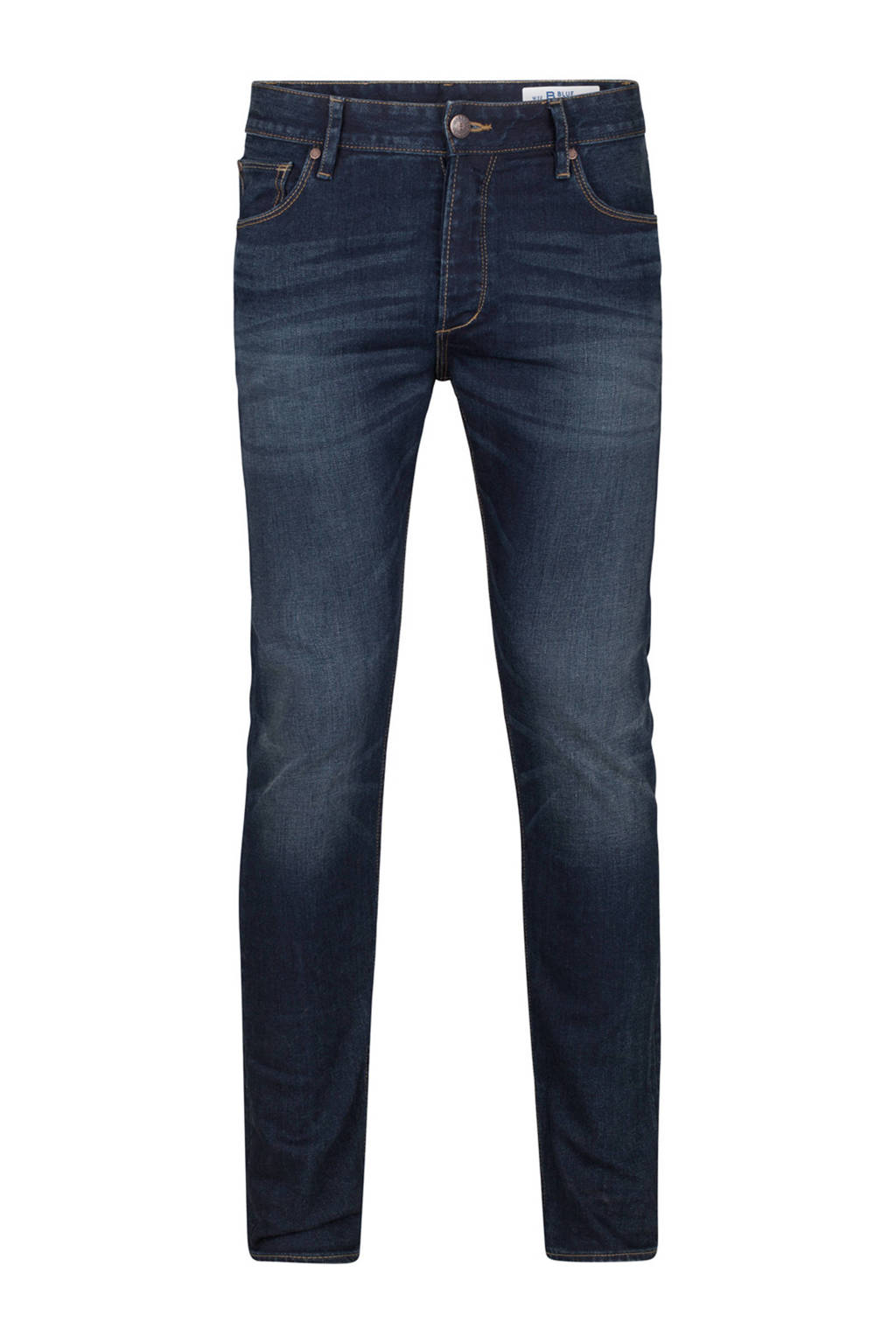 WE Fashion Blue Ridge blue ridge regular skinny fit jeans, Blue denim