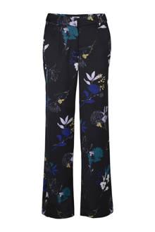 pantalon met bloemen zwart