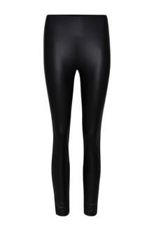 super skinny fit legging van imitatieleer zwart