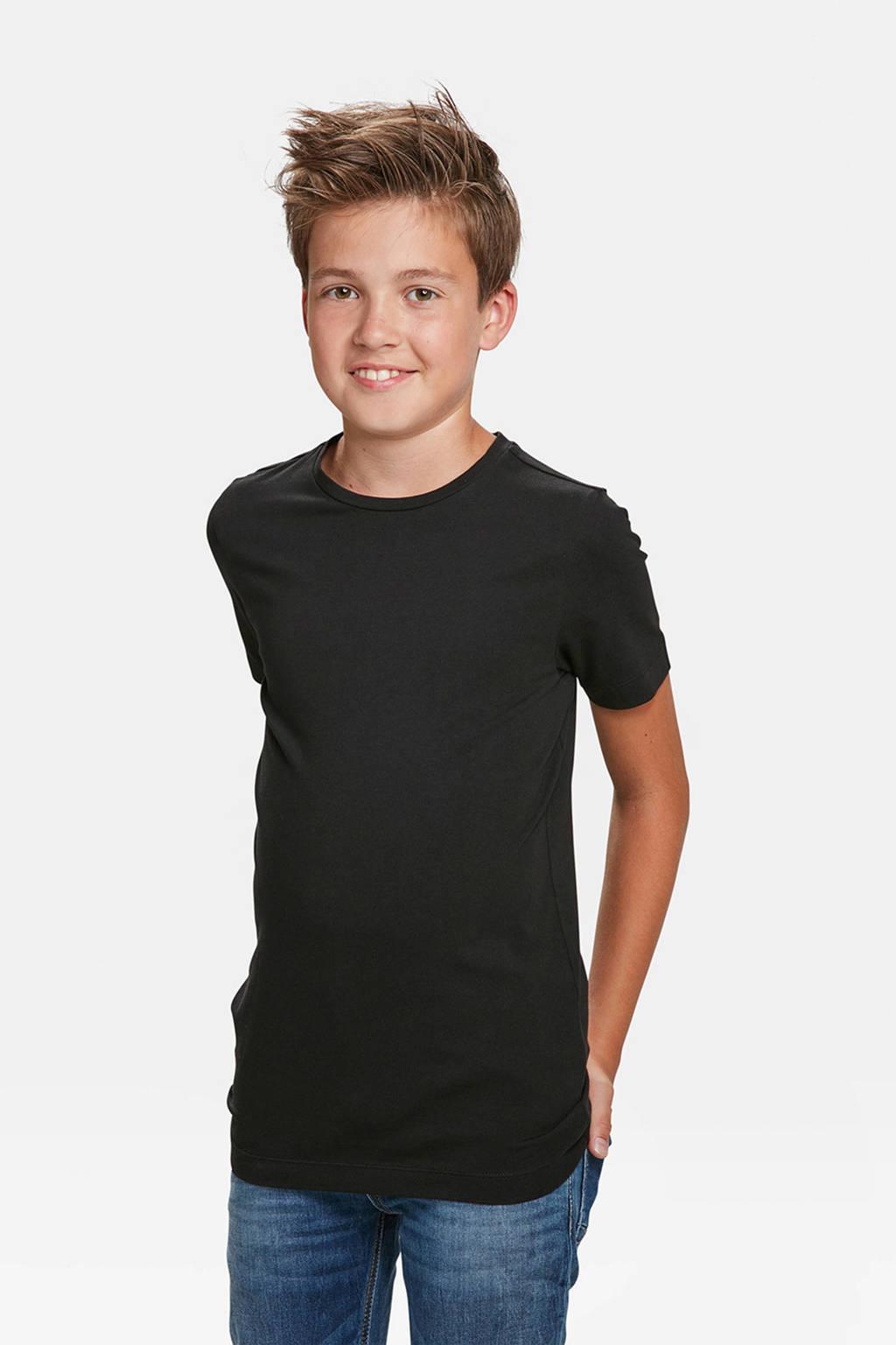 WE Fashion T-shirt - set van 2 zwart, Black Uni