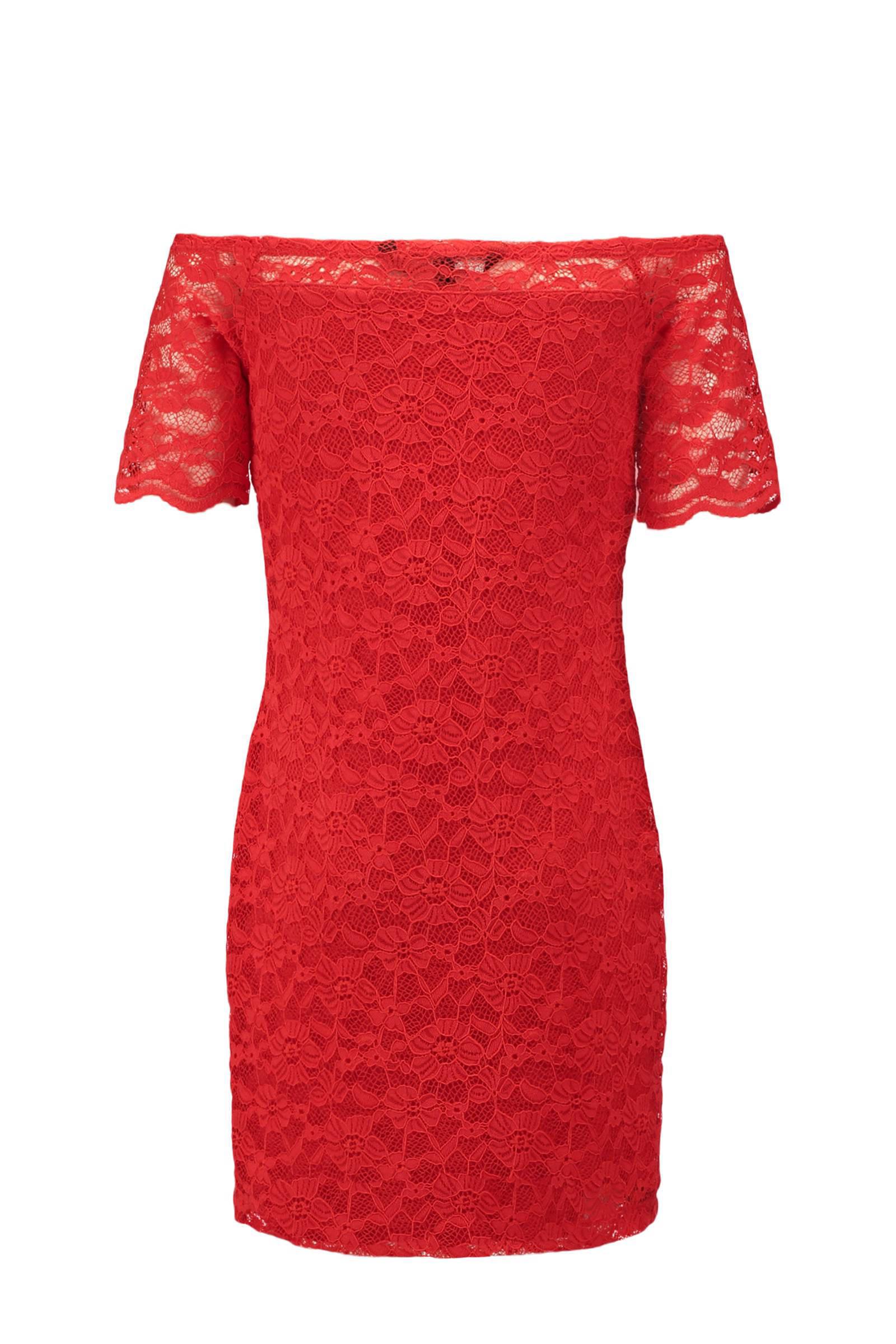 jurk rood kant