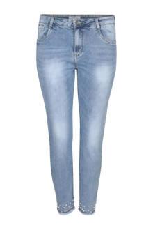 7/8 slim fit jeans met parels