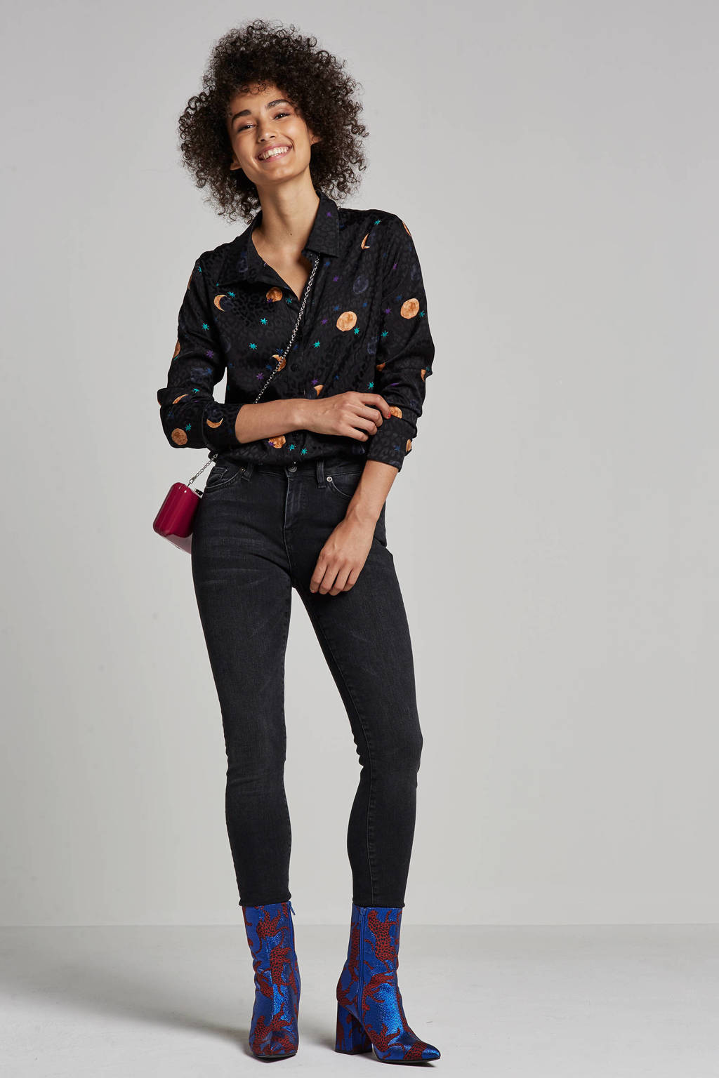 SELECTED FEMME skinny jeans black denim, Black denim