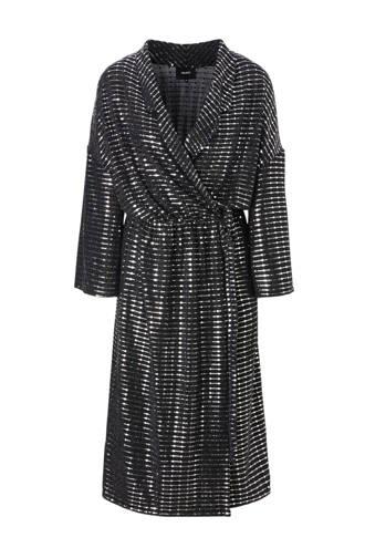 overslag jurk met all-over glitter