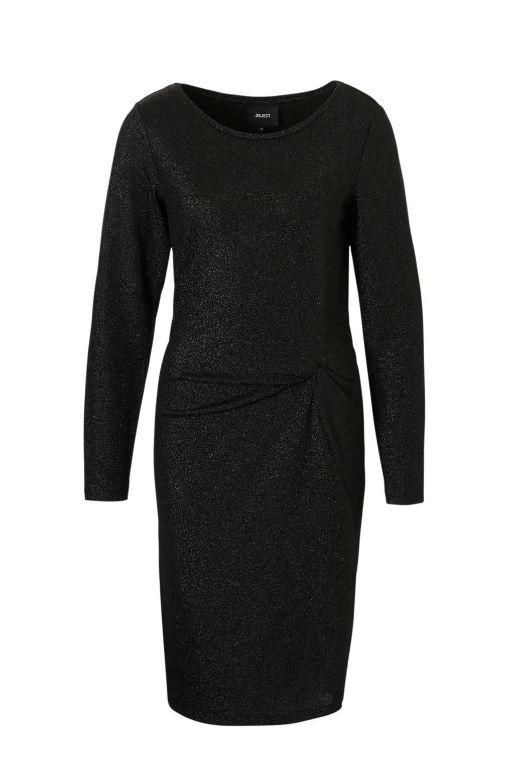 OBJECT glitter jurk, Zwart