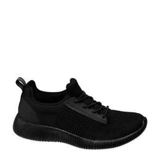 vanHaren Venice  sneakers met ribbels zwart