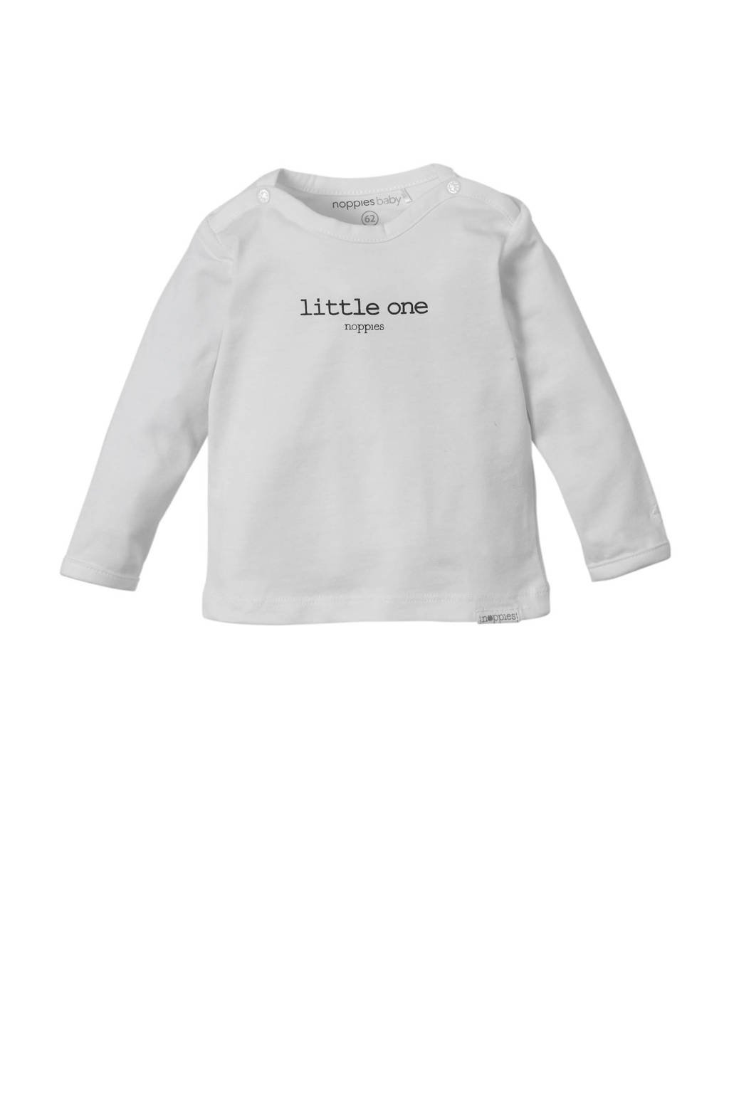 Noppies newborn baby longsleeve, Wit