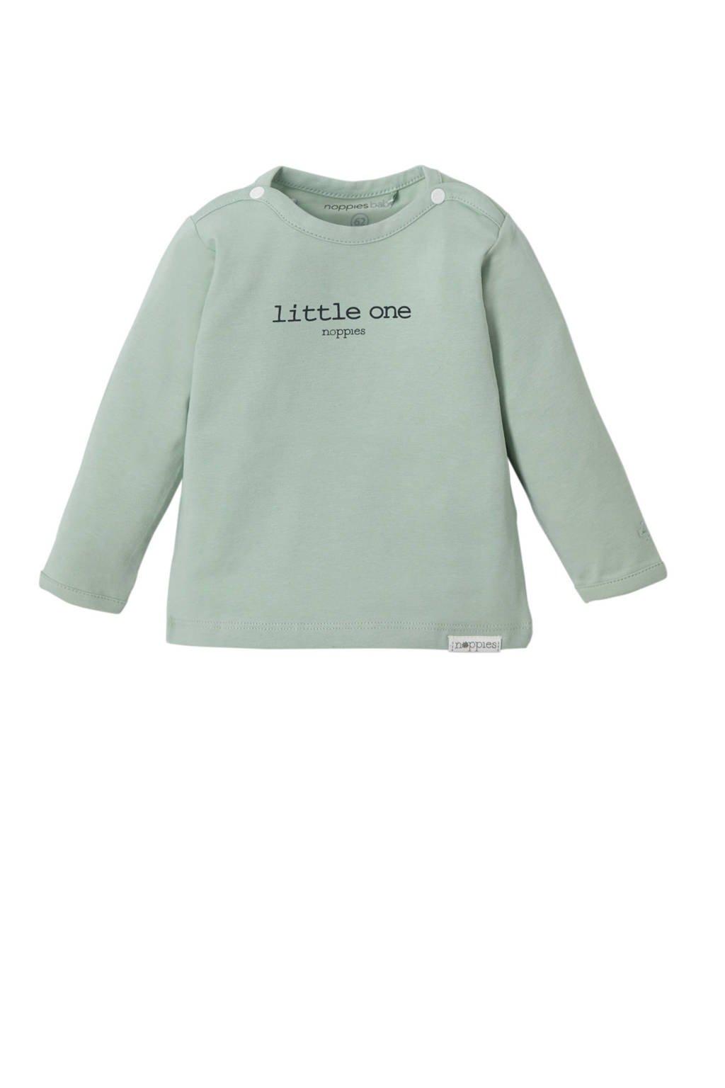Noppies newborn T-shirt  Hester mintgroen, Mintgroen