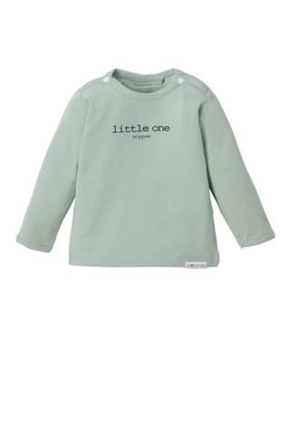 newborn T-shirt  Hester mintgroen