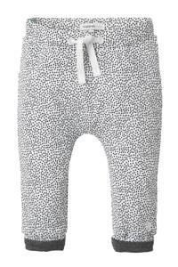 Noppies newborn baby broek, Wit/ zwart/ grijs melange