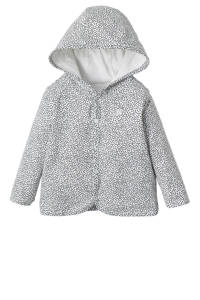 Noppies omkeerbaar newborn baby vest Haye, wit/ zwart
