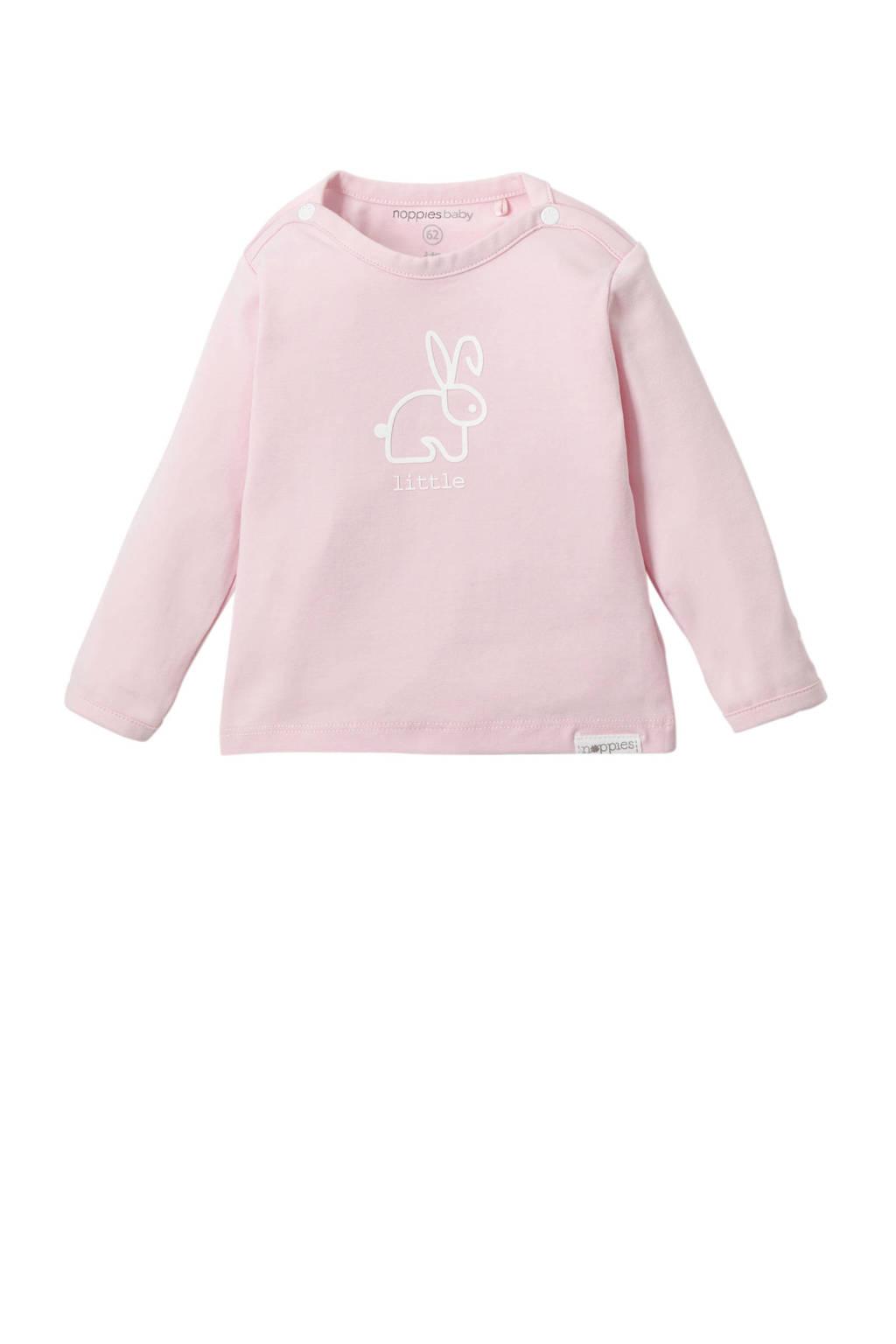 Noppies newborn baby longsleeve Rood, Licht roze