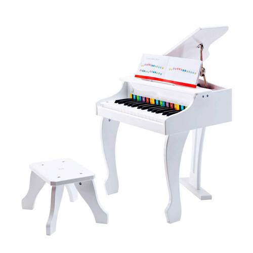 Hape houten deluxe grote piano wit kopen