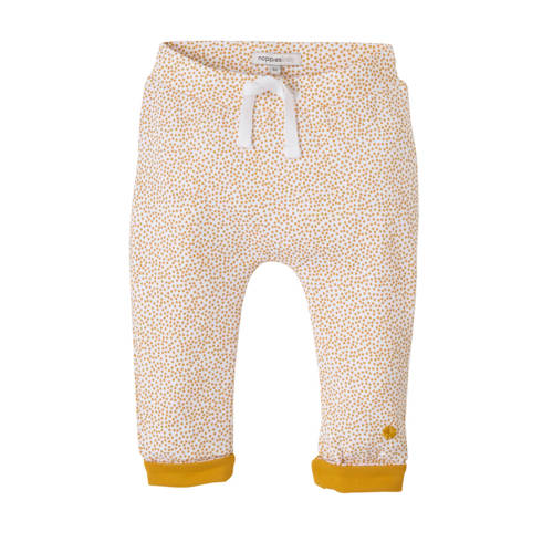 Noppies baby newborn broek Kirsten met stippen wit