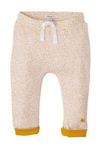 Noppies baby newborn broek Kirsten met stippen wit/oker, Wit/oker