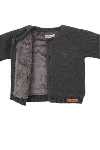 Noppies baby newborn gebreid vest, Antraciet