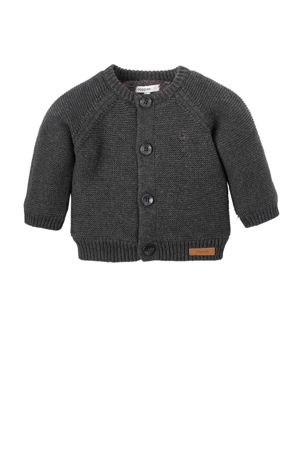 Noppies newborn gebreid vest, Antraciet