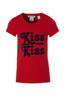 T-shirt Patricia met tekst rood