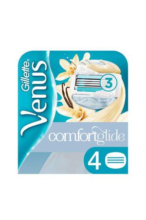 Comfortglide vanille scheermesjes - 4 stuks