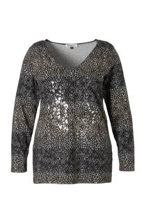 Donna Day top met all over print (dames)