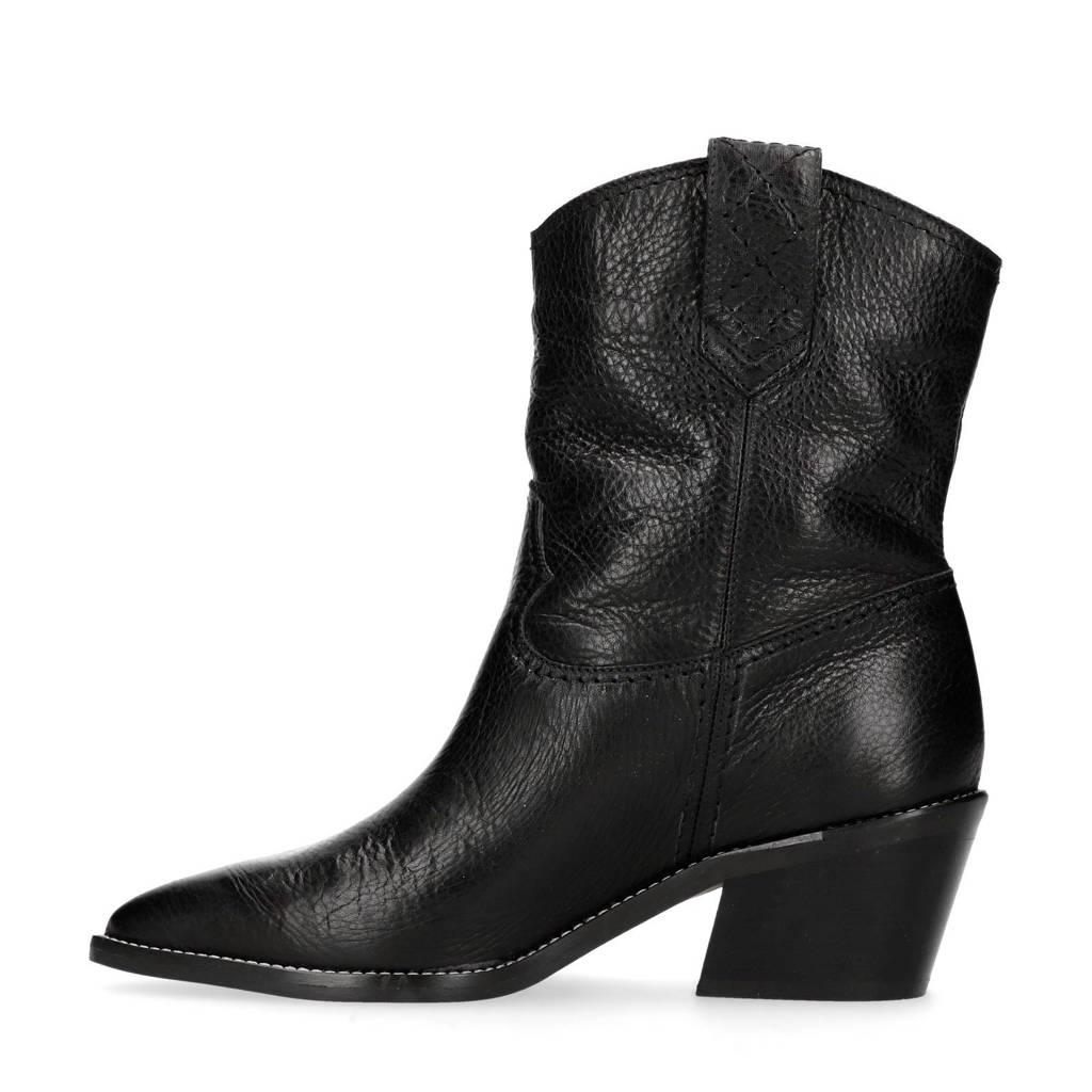 Zwart Manfield Bowboy Leren Boots Bowboy Manfield Leren 8gEqYg