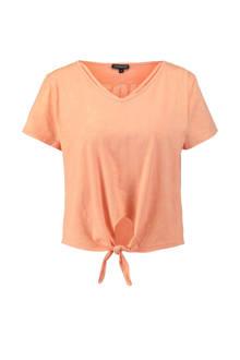 T-shirt met print zalm