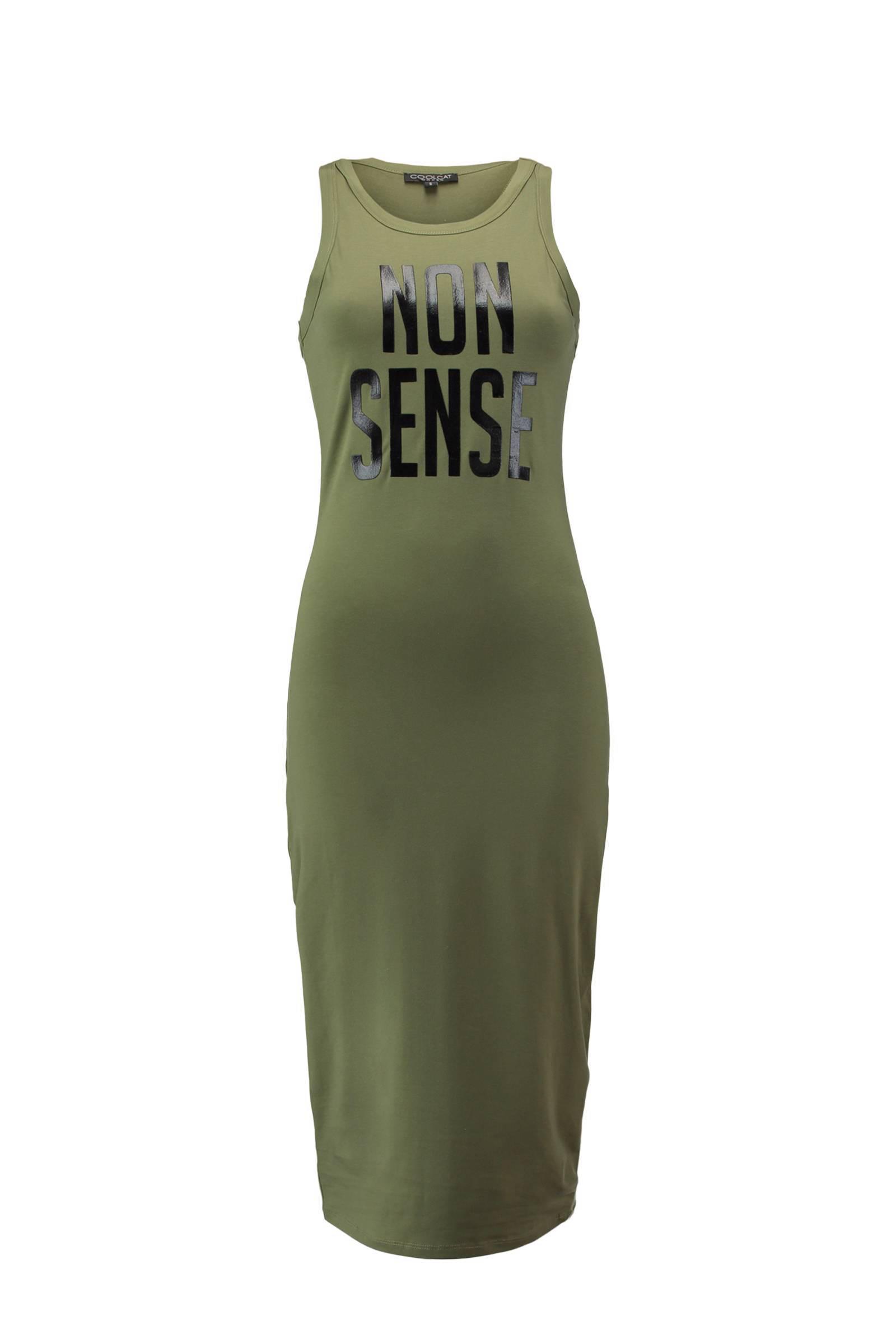 maxi jurk met tekst