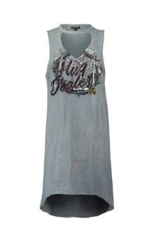 jurk met tekst grijs