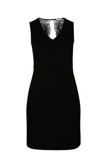 jurk met kanten achterpand zwart