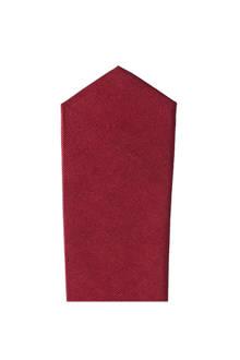 zijden stropdas donkerrood