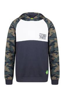 hoodie met camouflageprint blauw