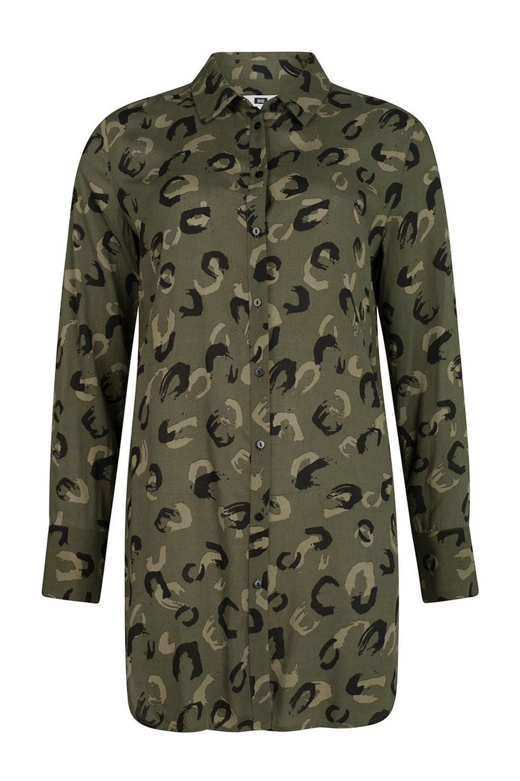Blouse Of Overhemd.We Fashion Tijgerprint Overhemd Blouse Groen Wehkamp