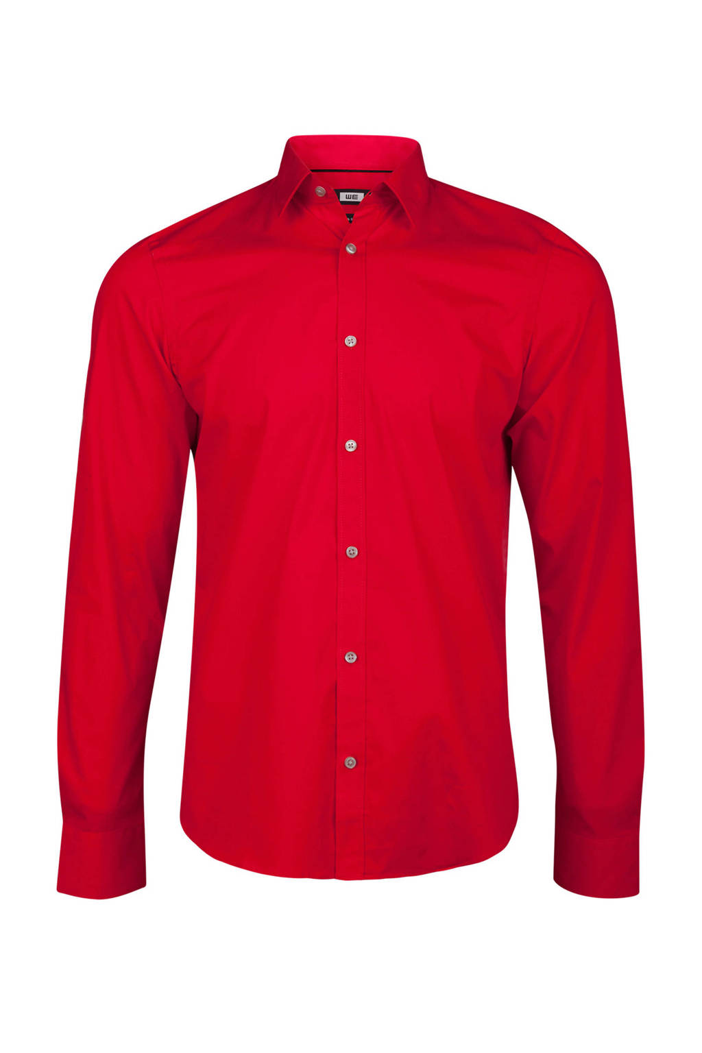 Rood Overhemd Slim Fit.We Fashion Slim Fit Overhemd Rood Wehkamp