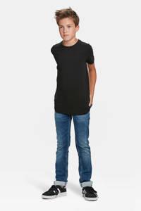 WE Fashion T-shirt basic zwart, Black Uni