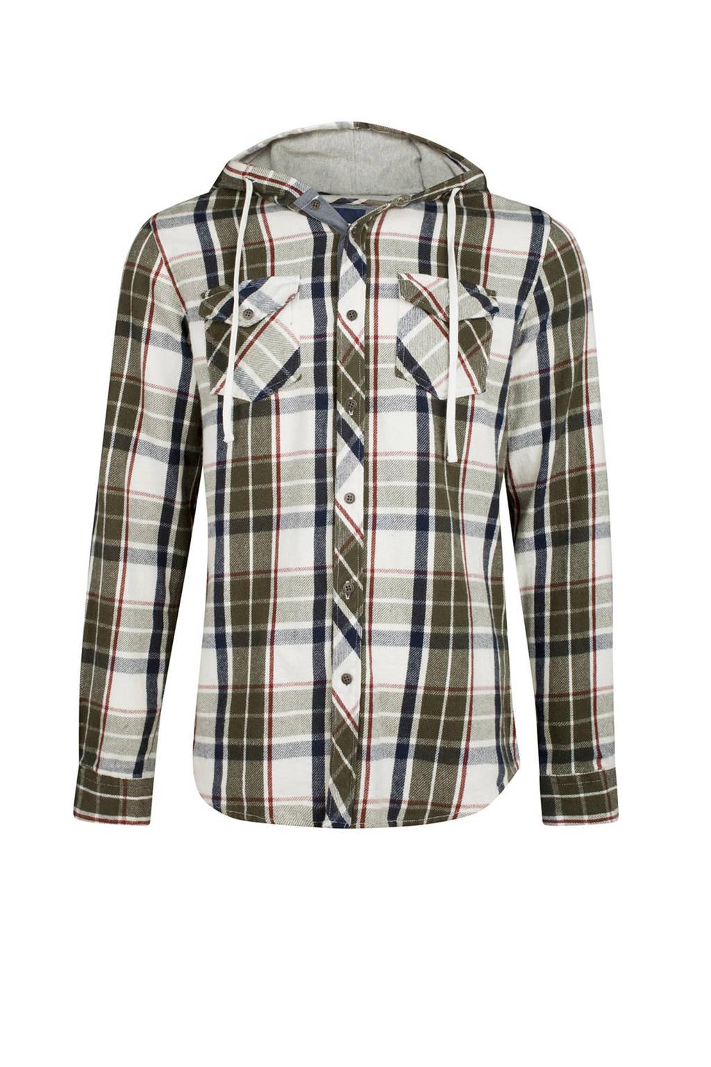Geblokt Overhemd.We Fashion Geblokt Overhemd Met Capuchon Wehkamp