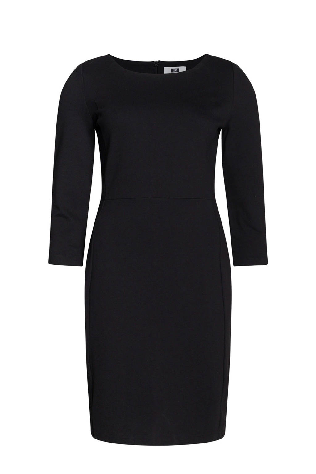WE Fashion slim fit jurk, Zwart