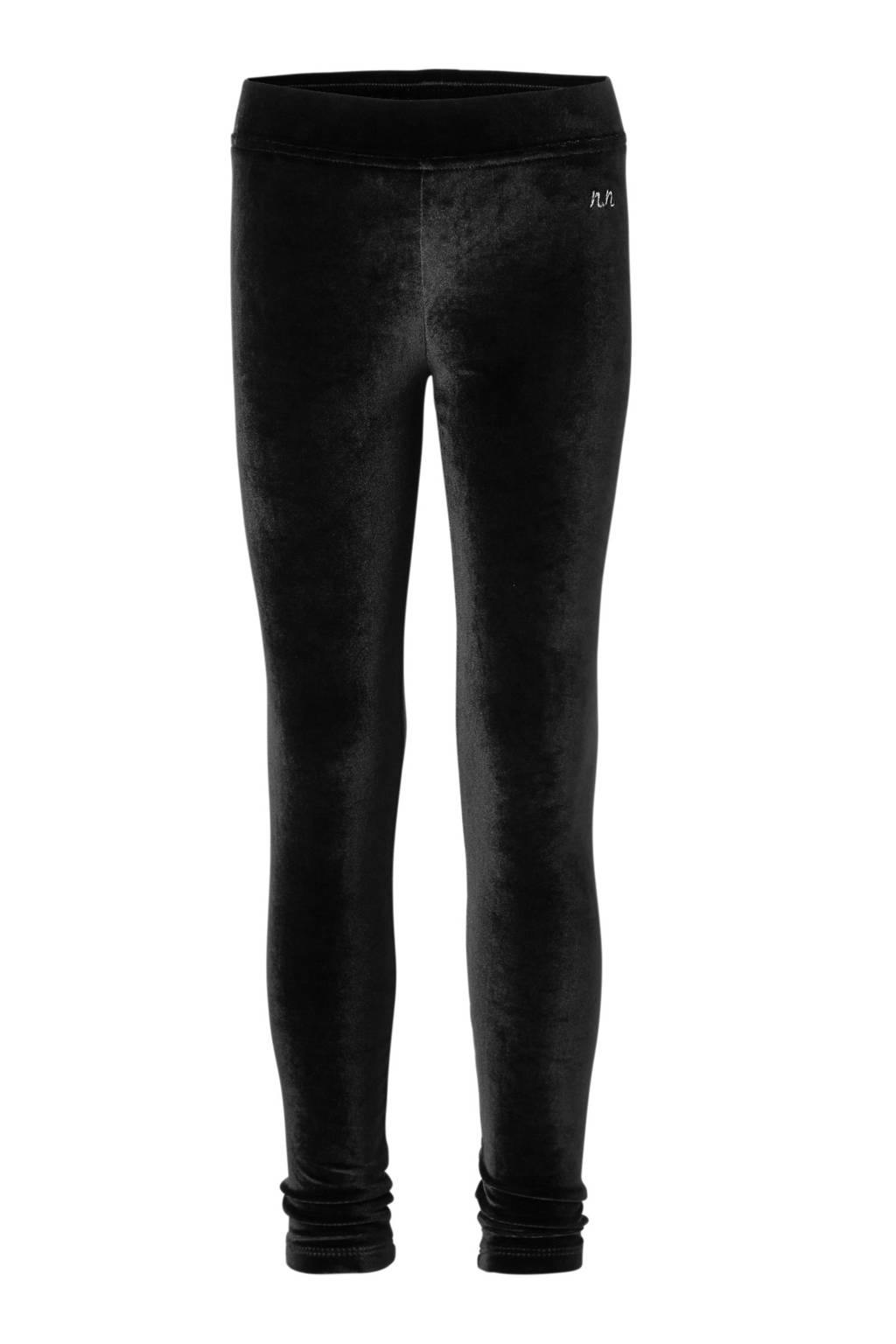 NIK&NIK fluwelen legging Faylinn zwart, Zwart