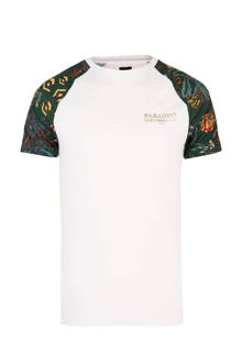 slim-fit T-shirt met print