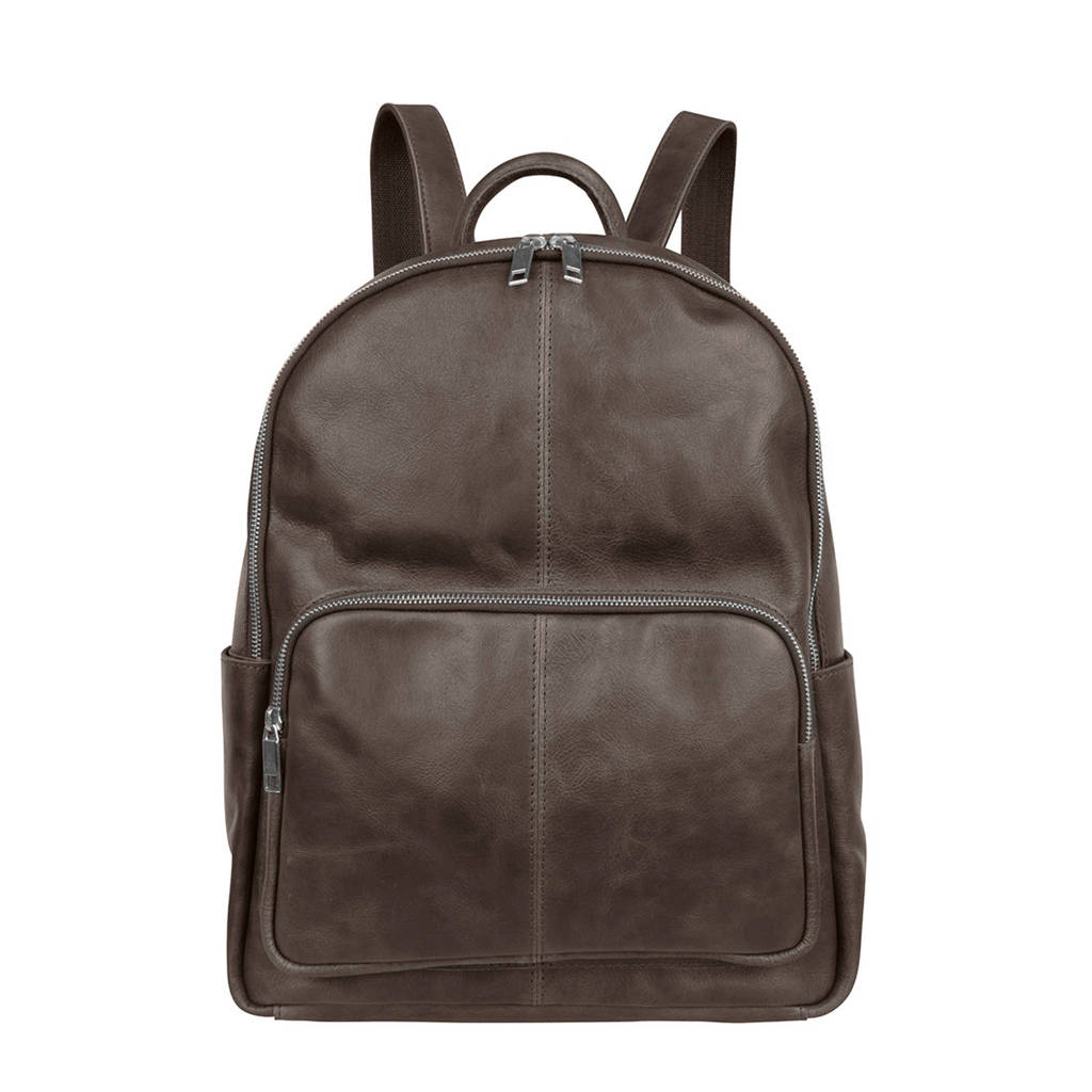 Cowboysbag 13,3 inch Mason leren laptoptas rugzak, Grijs