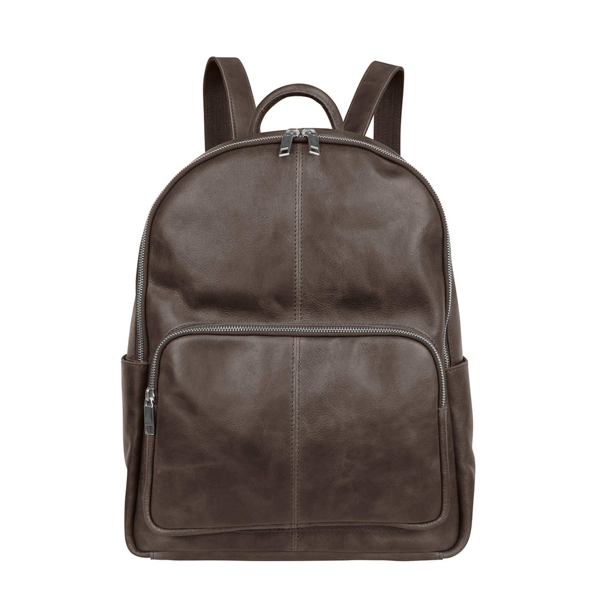 76c2ff7c91d Cowboysbag 13,3 inch Mason leren laptoptas rugzak | wehkamp