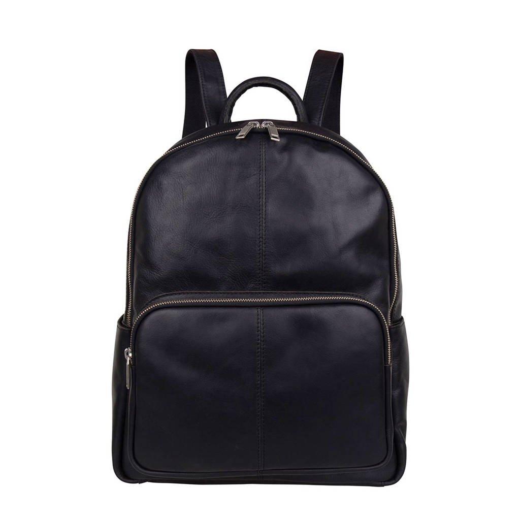 Cowboysbag  13.3 inch leren rugzak Mason zwart, Zwart