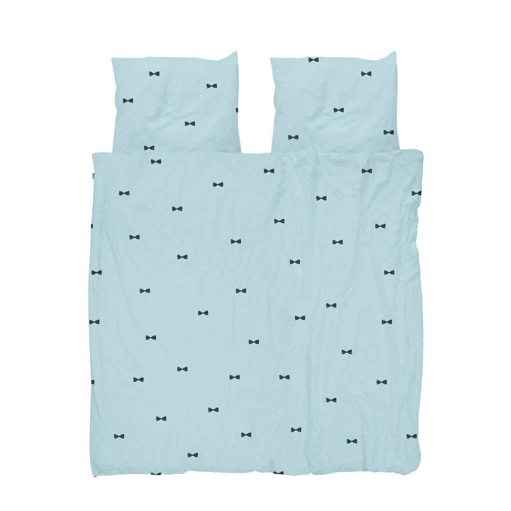 Snurk katoenen dekbedovertrek lits jumeaux, Lichtblauw, Lits-jumeaux (240 cm breed)