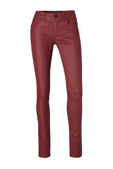 Skinny fit broek met coating